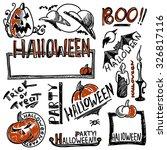 set of halloween elements | Shutterstock .eps vector #326817116