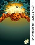 halloween background    Shutterstock .eps vector #326817134