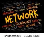 network word cloud  business... | Shutterstock .eps vector #326817338