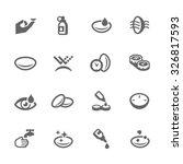 simple set of eye lens related... | Shutterstock .eps vector #326817593