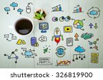 creativity concept with a cup... | Shutterstock . vector #326819900