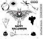 halloween design elements.... | Shutterstock . vector #326820830