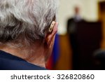 detail shot with a hearing aid... | Shutterstock . vector #326820860