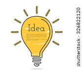 light bulb icon with idea... | Shutterstock .eps vector #326822120
