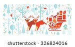 composition with christmas... | Shutterstock .eps vector #326824016
