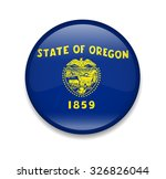 oregon button flag | Shutterstock .eps vector #326826044