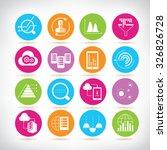 Data Analytics Icons  Network...