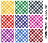 gingham patterns   textures in... | Shutterstock . vector #326827409