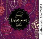 vector christmas restaurant... | Shutterstock .eps vector #326829014
