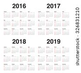 simple calendar for 2016 2017... | Shutterstock .eps vector #326831210