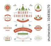 christmas labels and badges... | Shutterstock .eps vector #326838170