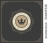 luxury logo template flourishes ... | Shutterstock .eps vector #326839328