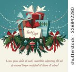 decorations and gifts.... | Shutterstock .eps vector #326842280