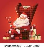 santa in the chair. christmas... | Shutterstock .eps vector #326842289
