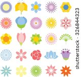 flower icon collection   vector ... | Shutterstock .eps vector #326844323