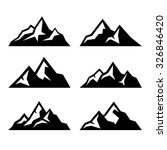 Stock vector mountain icons set on white background vector 326846420