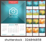 wall monthly calendar for 2016... | Shutterstock .eps vector #326846858