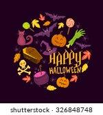 spooky halloween vector symbols  | Shutterstock .eps vector #326848748
