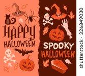 halloween backgrounds. dark and ... | Shutterstock .eps vector #326849030