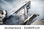 cement production factory on... | Shutterstock . vector #326849114