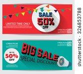 gift voucher certificate coupon ... | Shutterstock .eps vector #326853788