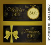 gold and black christmas and... | Shutterstock .eps vector #326853830