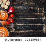 delicious pumpkin soup with... | Shutterstock . vector #326859854