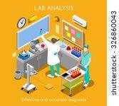 clinic laboratory blood test... | Shutterstock . vector #326860043