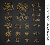 set of luxury  vintage curls ...   Shutterstock .eps vector #326860718