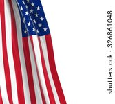 Hanging Flag Of The United...