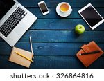 gadgets and supplies necessary... | Shutterstock . vector #326864816