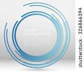 techno vector circle abstract... | Shutterstock .eps vector #326866394