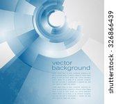 techno vector circle abstract... | Shutterstock .eps vector #326866439