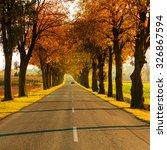 Road Running Through Autumn...