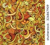 cartoon hand drawn doodles on... | Shutterstock .eps vector #326867909