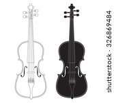 violin. raster version.... | Shutterstock . vector #326869484