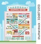 shopping center building with... | Shutterstock .eps vector #326871053