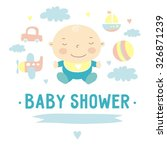baby shower invitation vector... | Shutterstock .eps vector #326871239