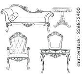 set of classic furniture with... | Shutterstock .eps vector #326872400