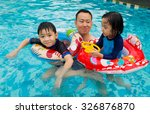 asian family playing on... | Shutterstock . vector #326876870