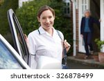 female care worker visiting... | Shutterstock . vector #326878499