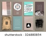 set of vintage  cards with... | Shutterstock .eps vector #326880854