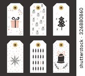 collection of christmas gift... | Shutterstock .eps vector #326880860