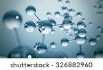Blue Molecule Structure 3d...