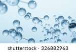blue molecule structure 3d...   Shutterstock . vector #326882963