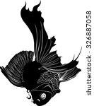 goldfish carp. a fish. goldfish ... | Shutterstock .eps vector #326887058