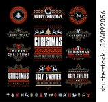 christmas typographic and... | Shutterstock .eps vector #326892056