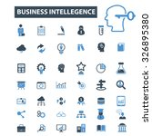 business intelligence icons | Shutterstock .eps vector #326895380