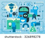 illustration of scientific... | Shutterstock .eps vector #326898278