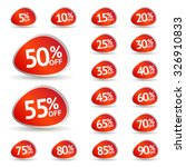 discount price tags. vector... | Shutterstock .eps vector #326910833